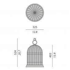 Contardi Freedom Protable Outdoor Floor Lamp Line Drawing
