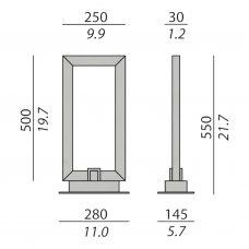 Contardi Uffizi Table Lamp Line Drawing