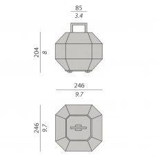 Contardi Treasure Table Lamp Line Drawing