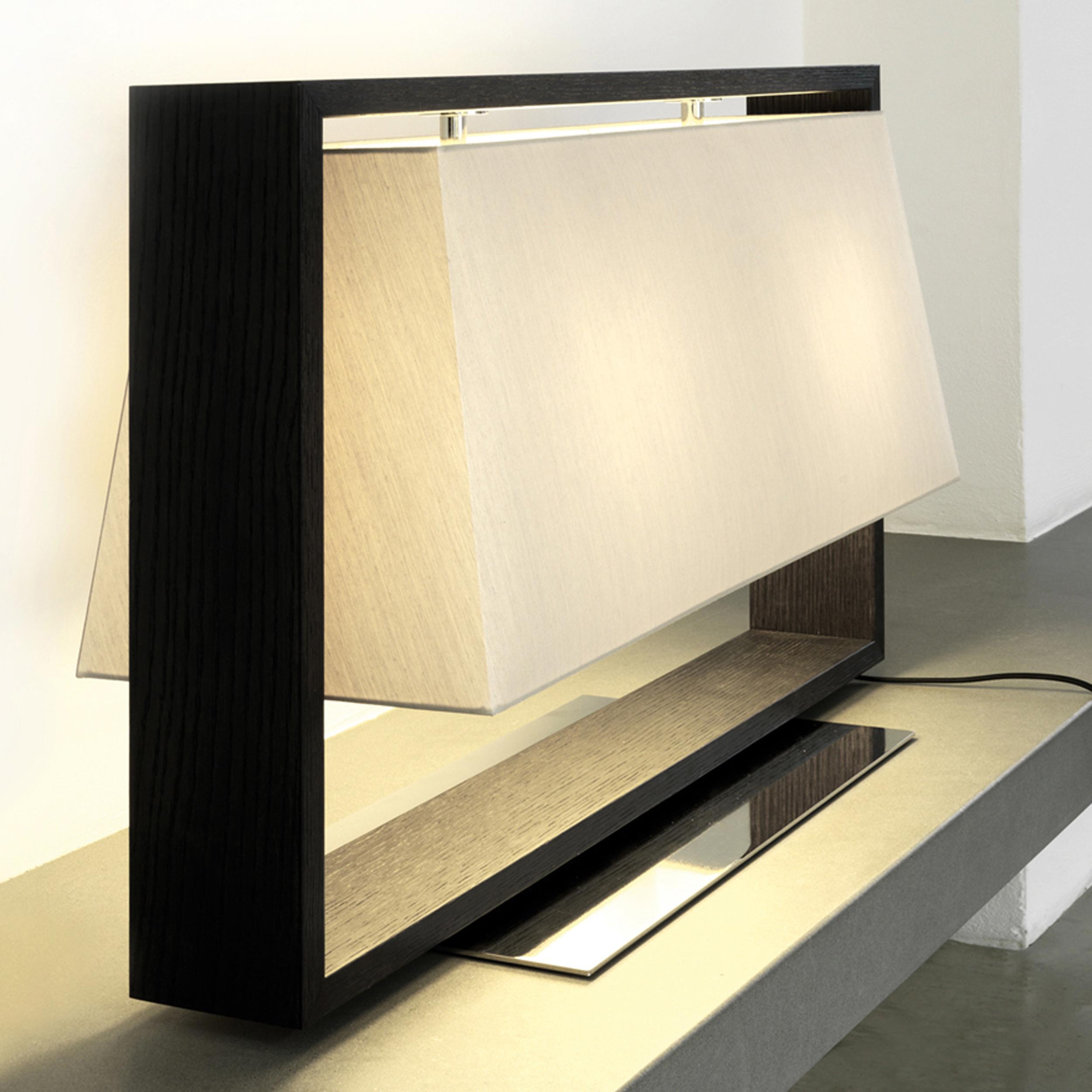 Contardi Frame Table Lamp Dark Oak