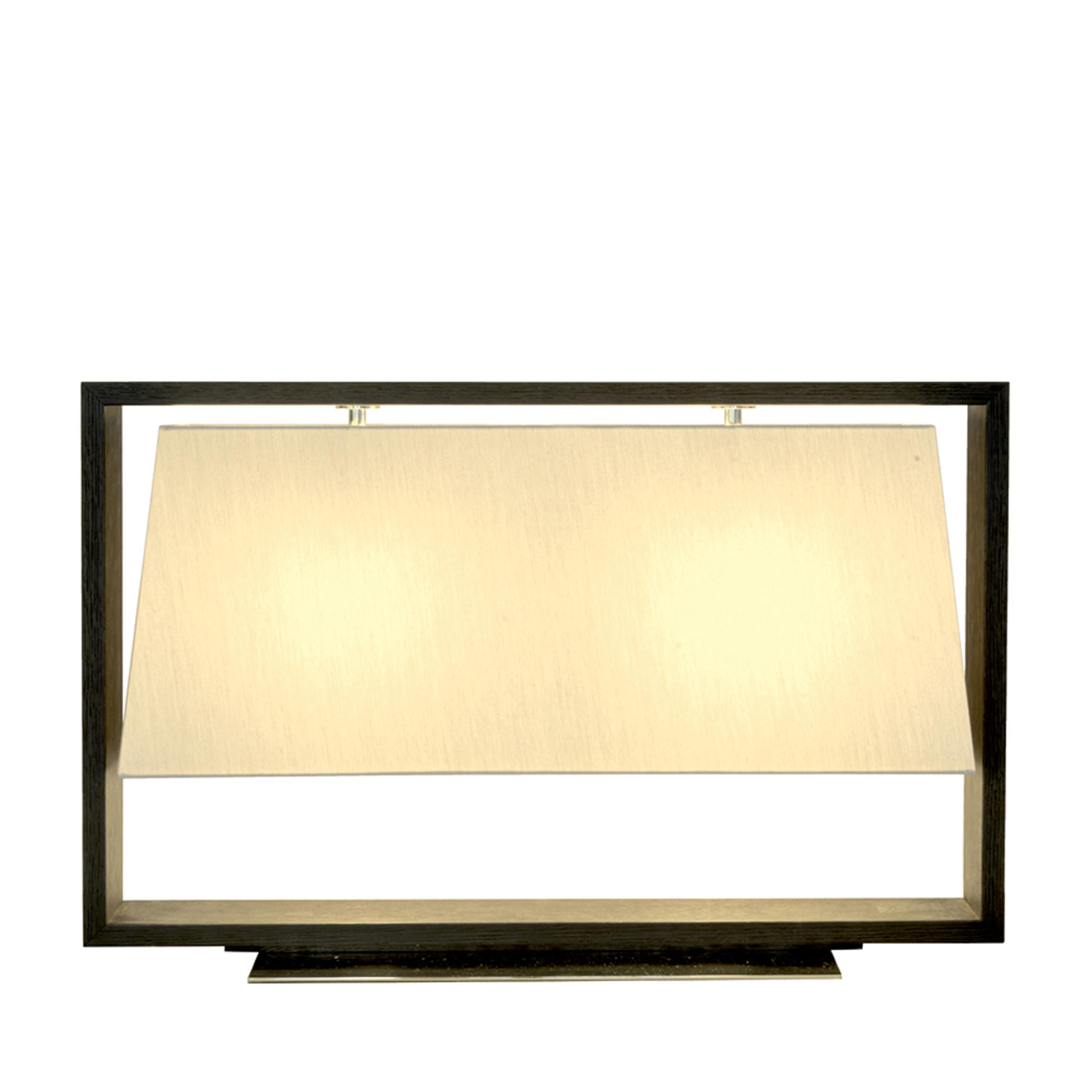 Contardi Frame Table Lamp Dark Oak D