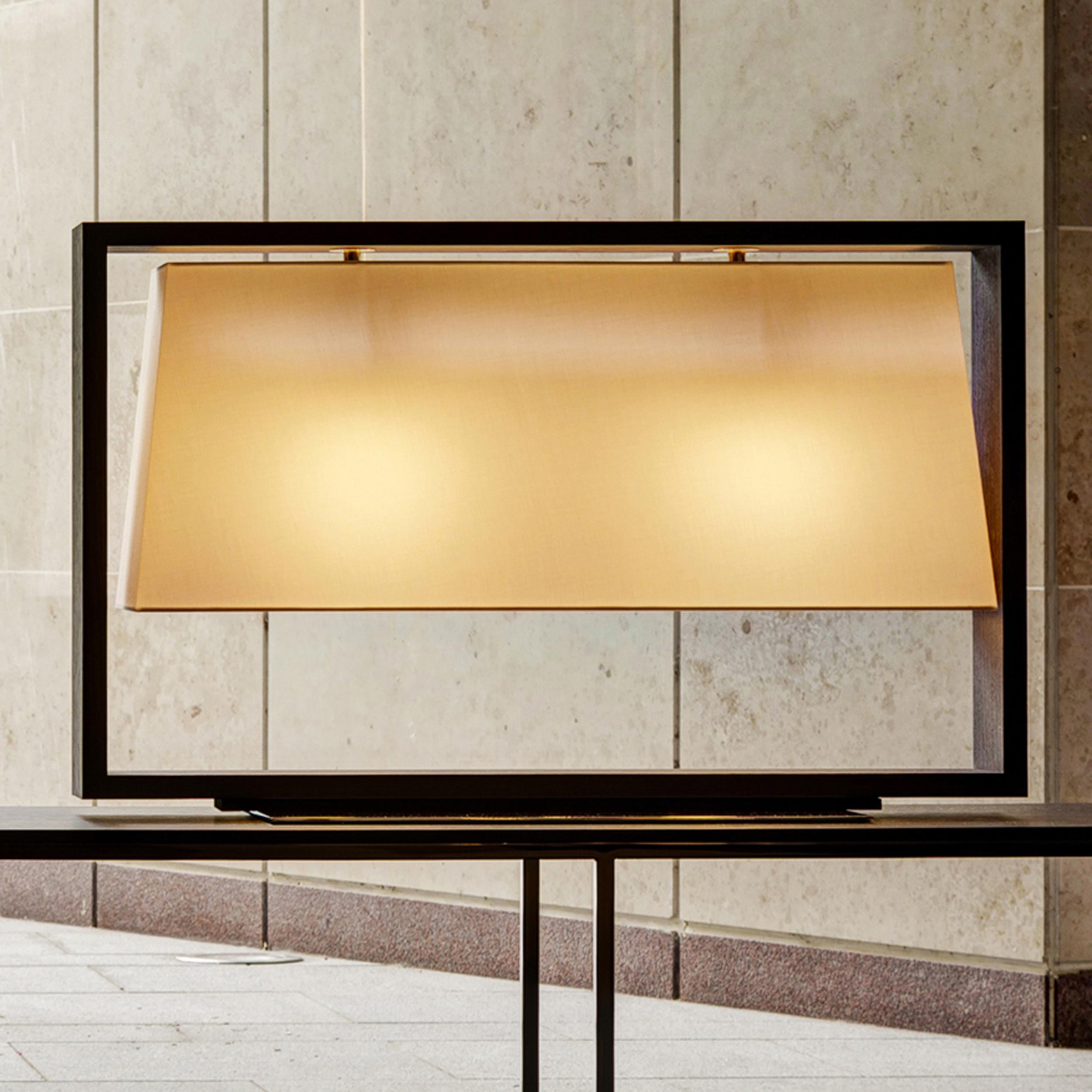 Contardi Frame Table Lamp Dark Oak C
