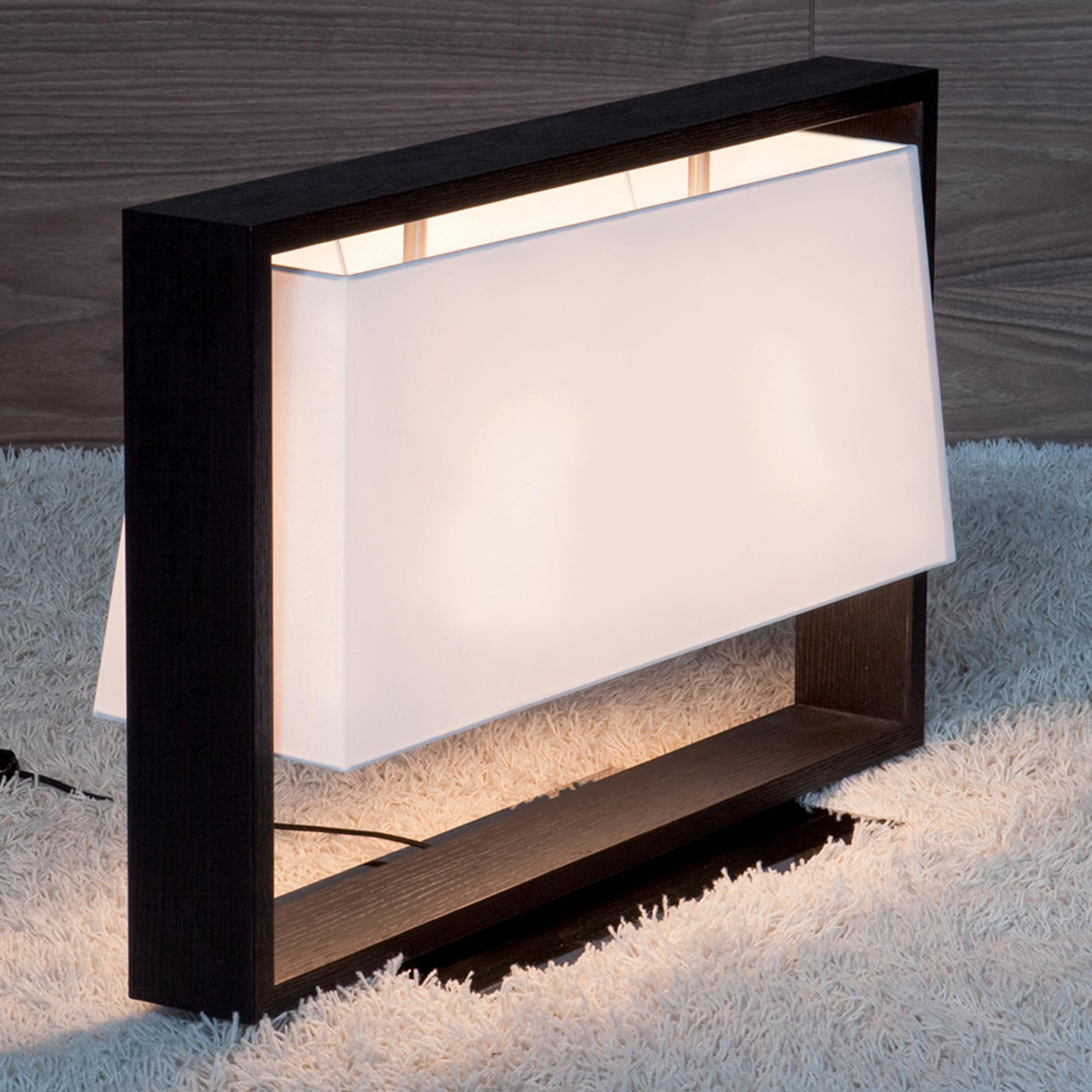 Contardi Frame Table Lamp Dark Oak B
