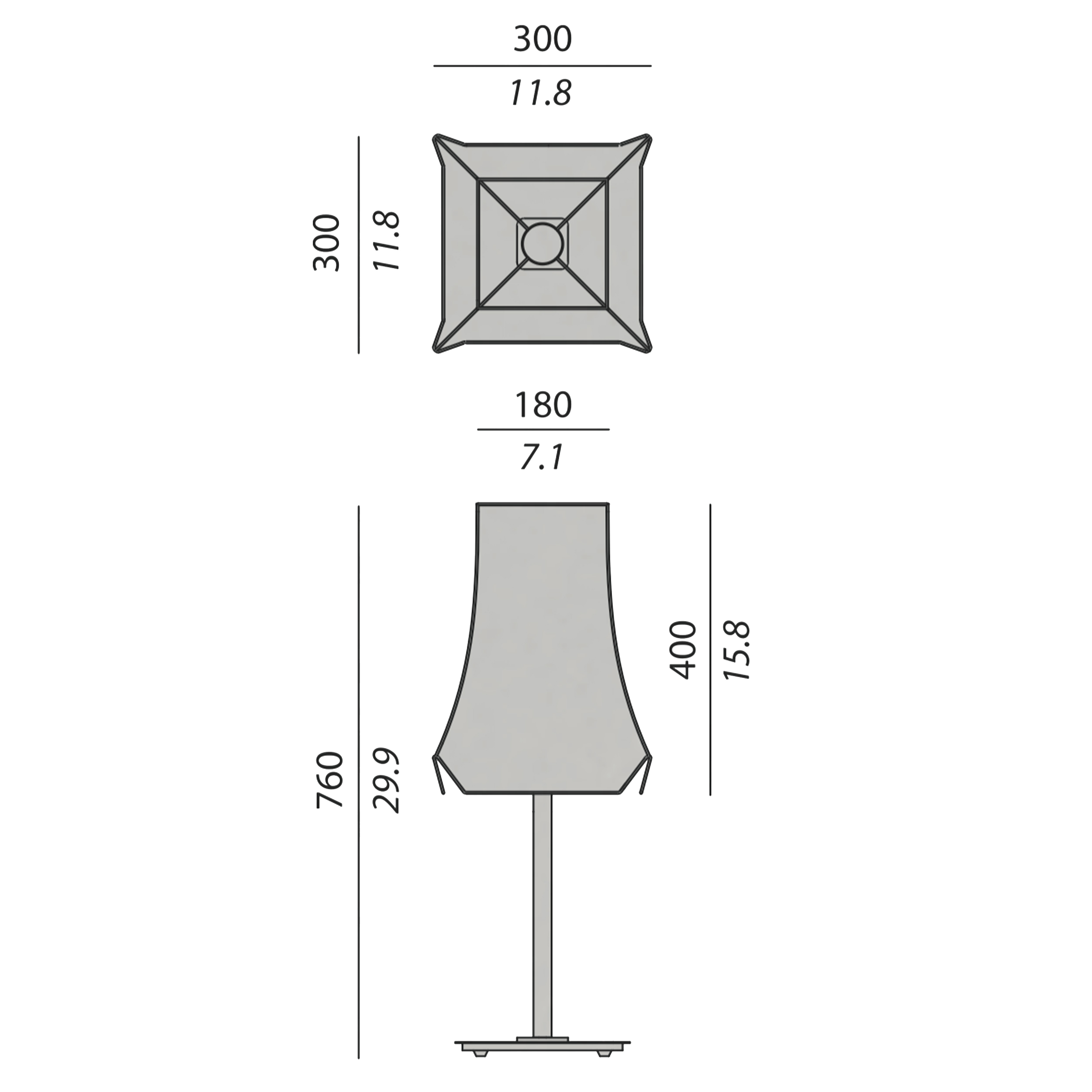 Contardi Cloche Table Lamp Line Drawing