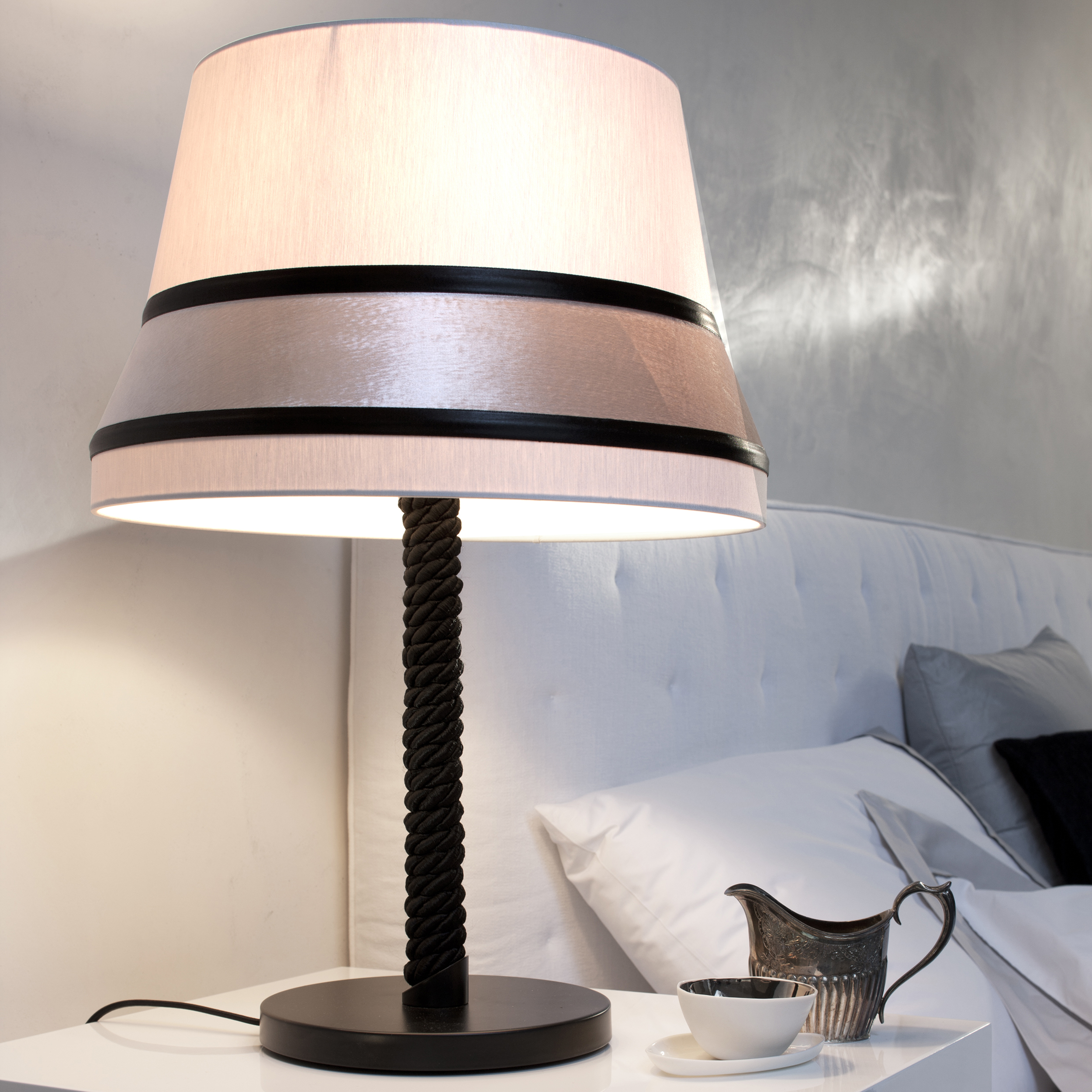 Contardi Audrey Medium Table Lamp Black Silk B