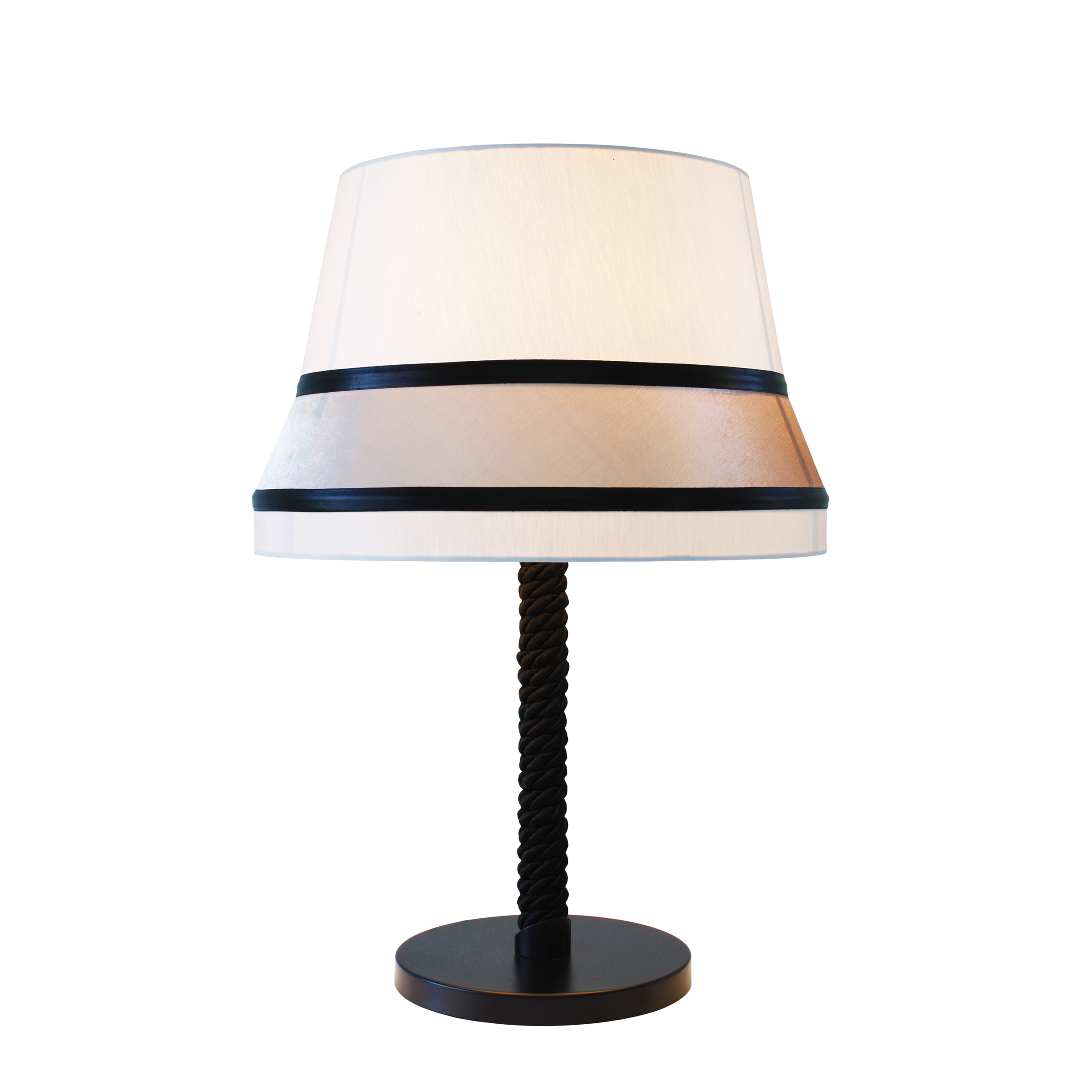 Contardi Audrey Medium Table Lamp Black Silk
