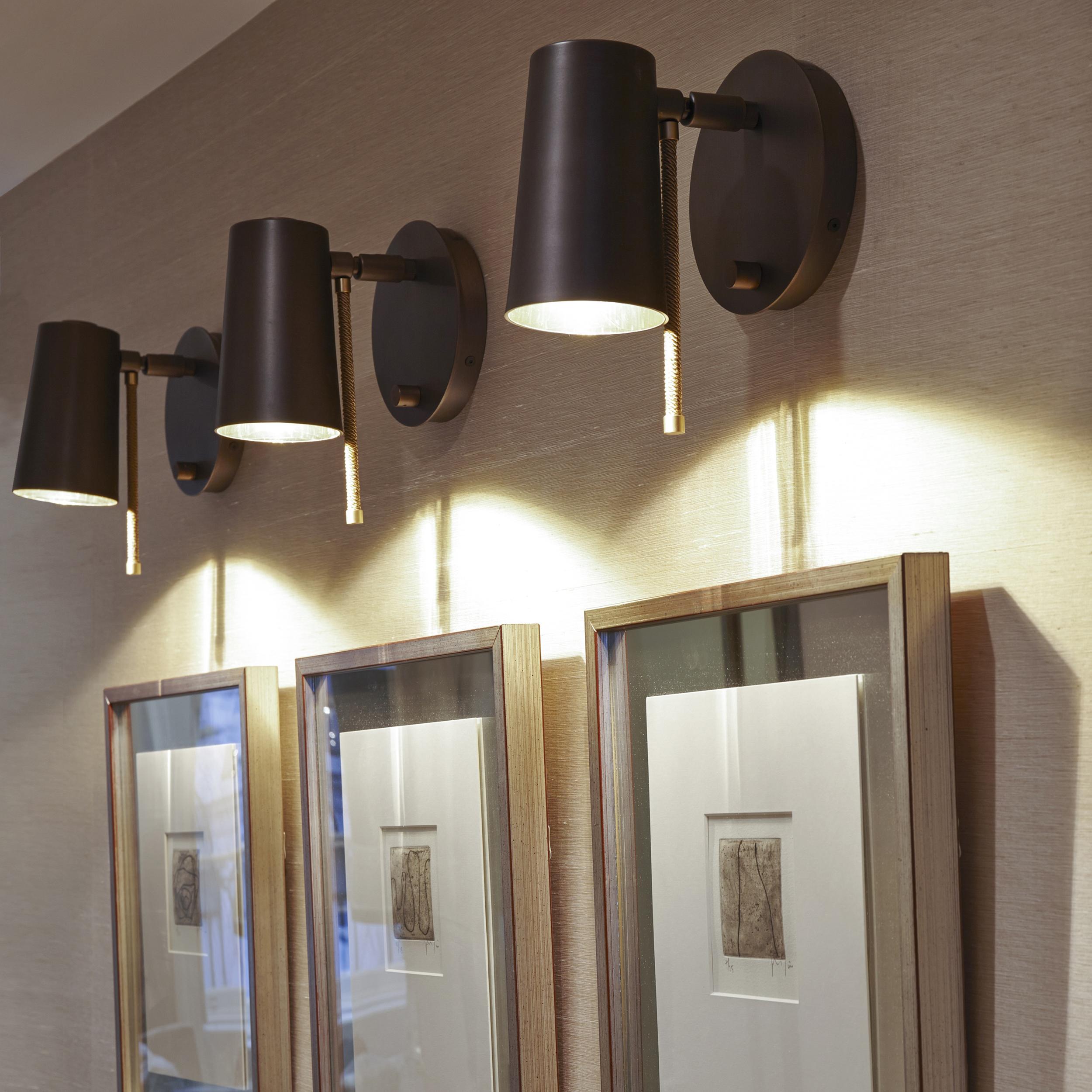 Contardi Up Ap Wall Light Satin Bronze