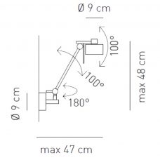 Axolight Ax20 Wall Light Line Drawing