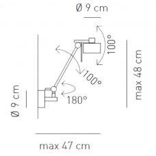 Axolight Ax20 Wall Light Line Drawing
