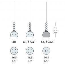 Evi Style Memoria S1 Pendant Light Line Drawing
