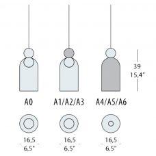 Evi Style Memoria C2 Pendant Light Line Drawing