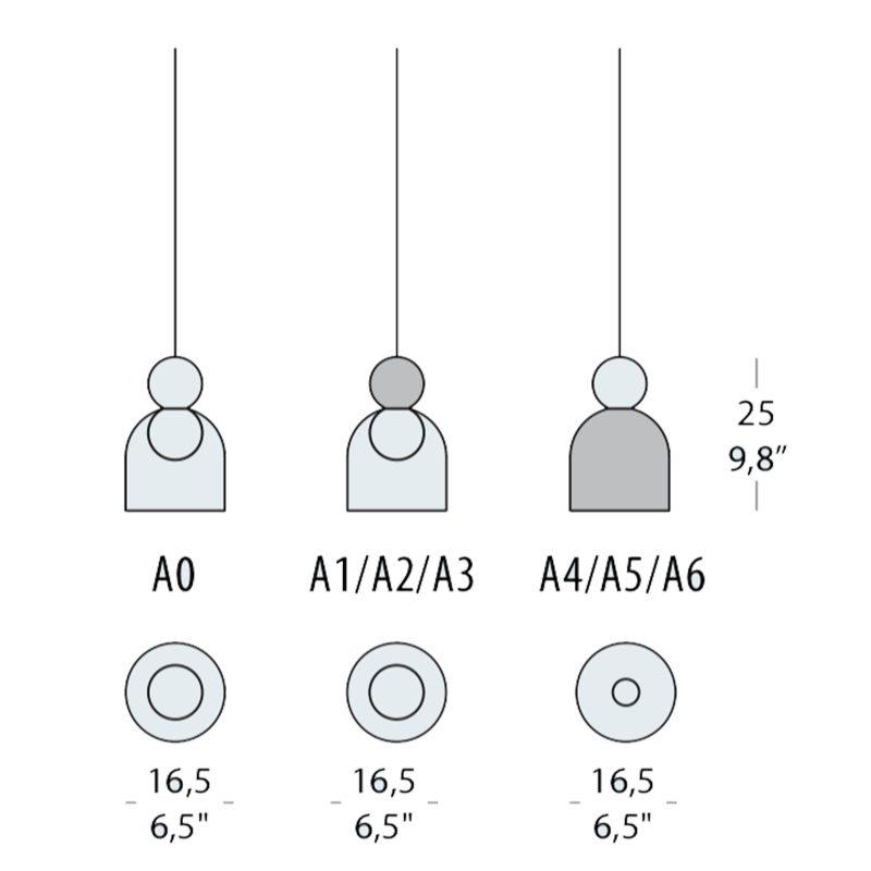 Evi Style Memoria C1 Pendant Light Line Drawing