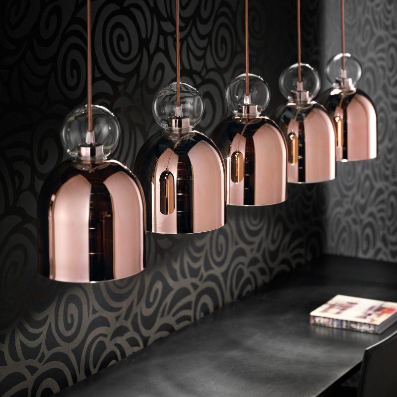 Evi Style Memoria C1 Pendant Light Clear Copper B