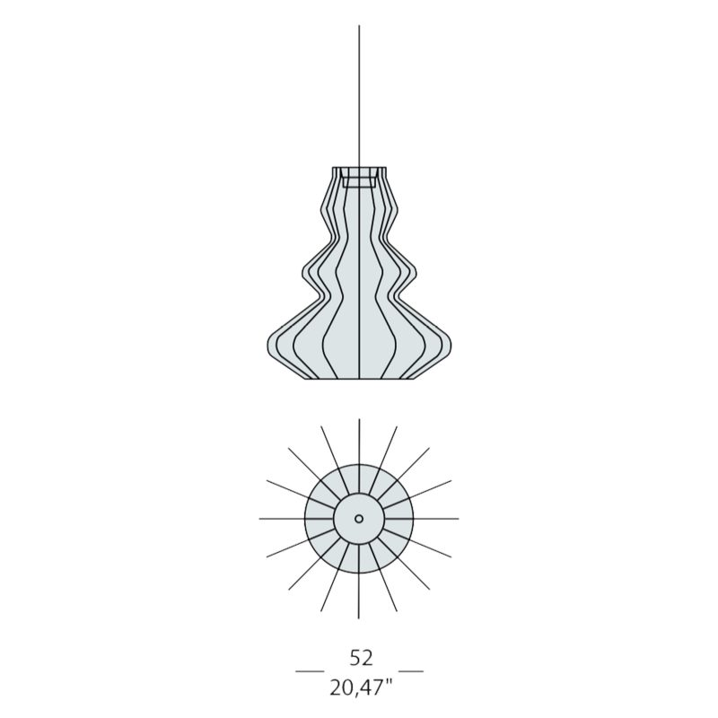 Evi Style Bia Argo Large Pendant Light Line Drawing