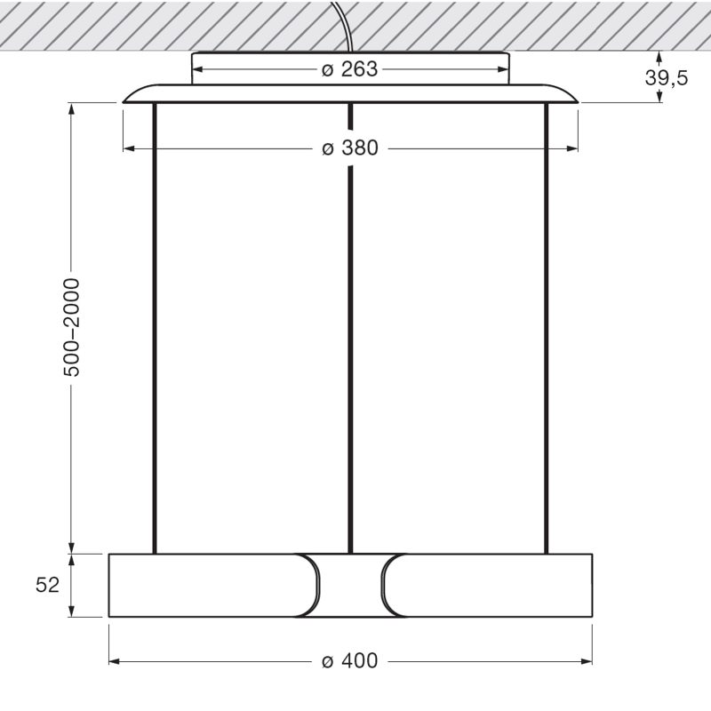 Mito Sospeso 40 Up Down Pendant Light Line Drawing