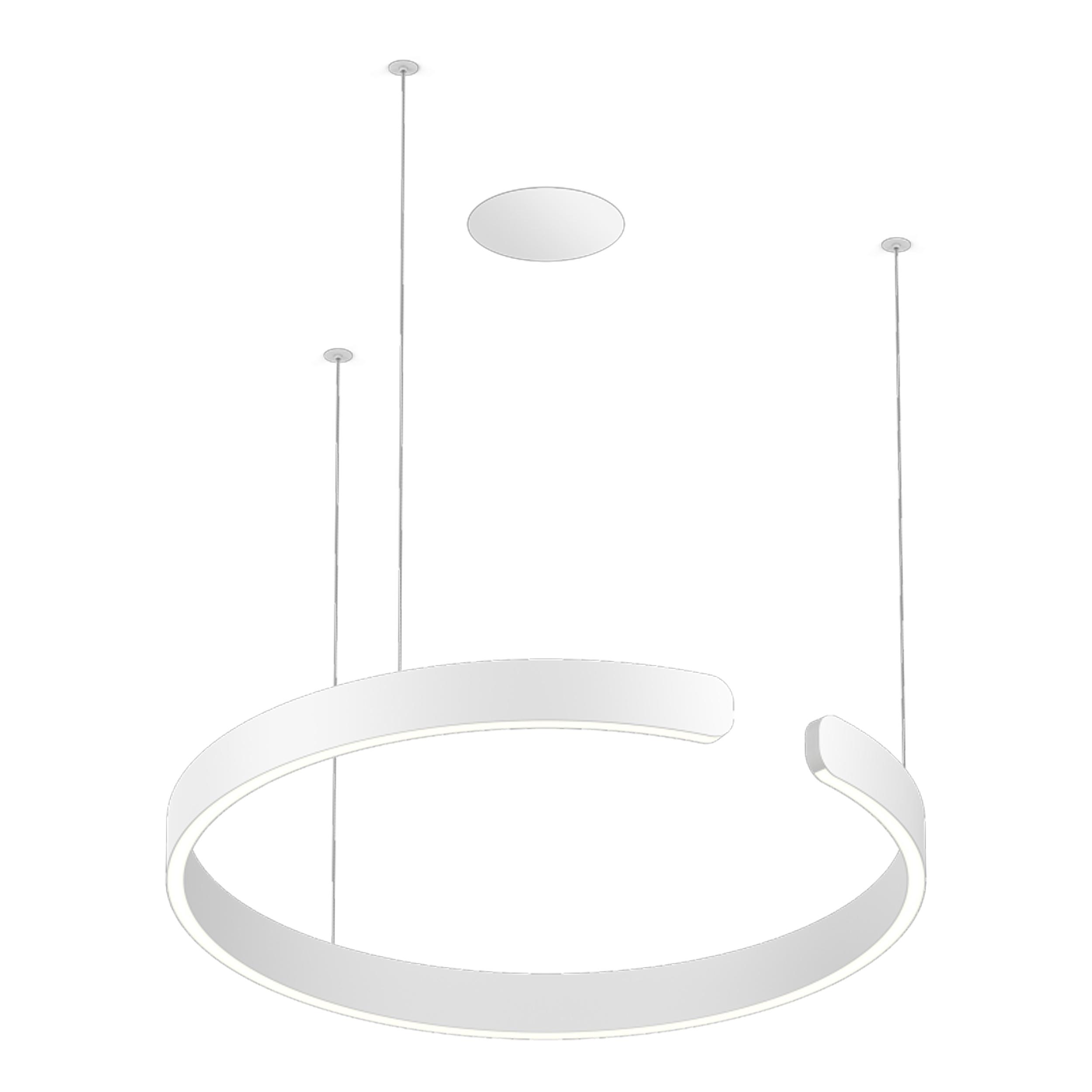 Occhio Mito Sospeso Flat Pendant Light Matt White