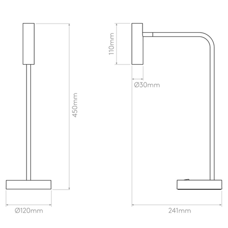 Astro Enna Table Lamp Line Drawing