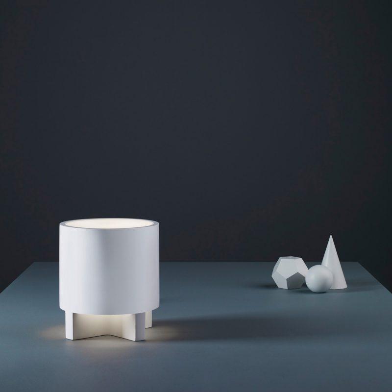 Astro Martello 180 Table Lamp White Plaster B