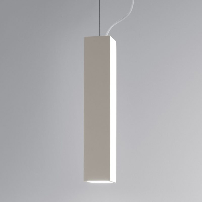 Astro Osca 400 Square Pendant Light White Plaster