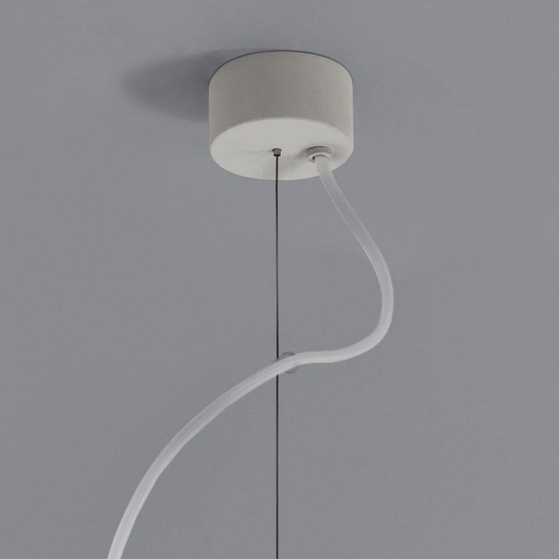 Astro Osca 400 Square Pendant Light White Plaster B