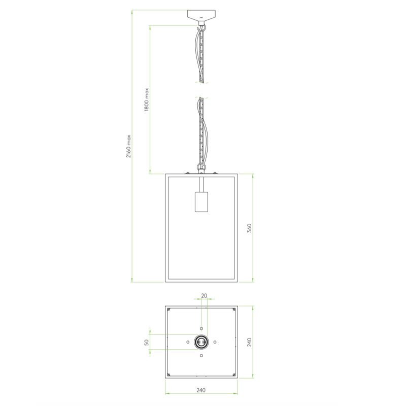 Astro Homefield 360 Pendant Light Line Drawing