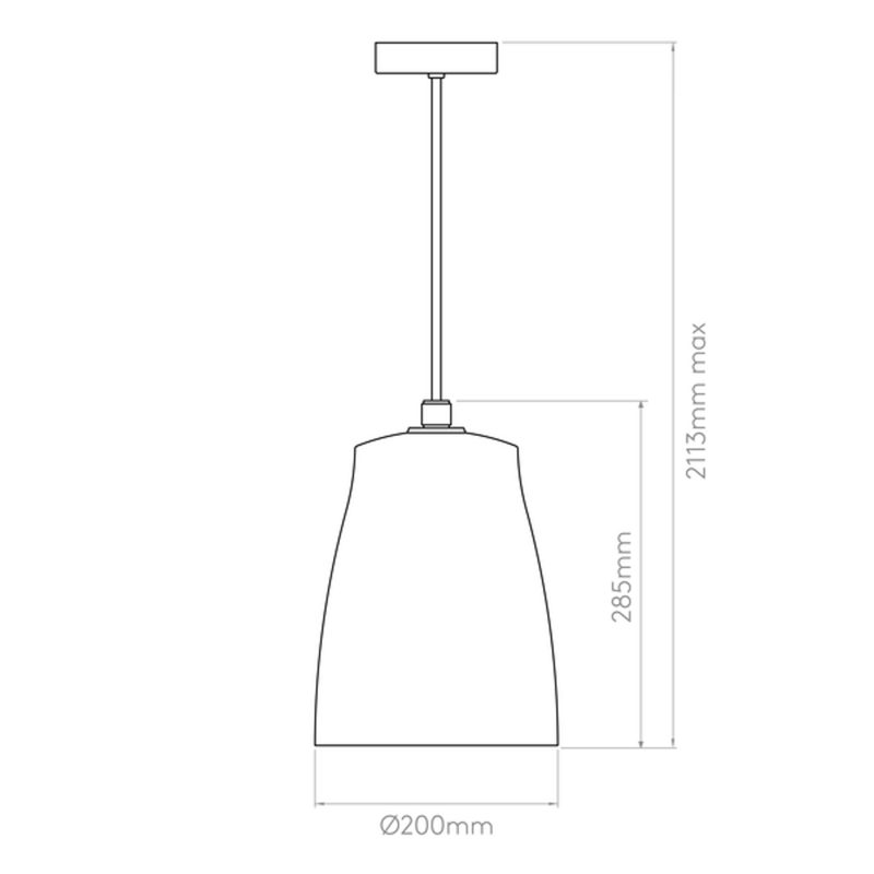 Astro Atelier 200 Pendant Light Line Drawing