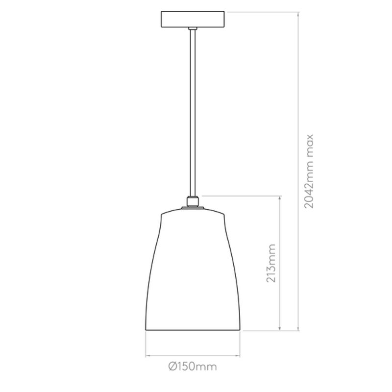 Astro Atelier 150 Pendant Light Line Drawing
