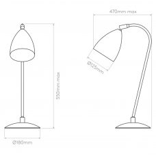 Astro Joel Grande Table Lamp Line Drawing