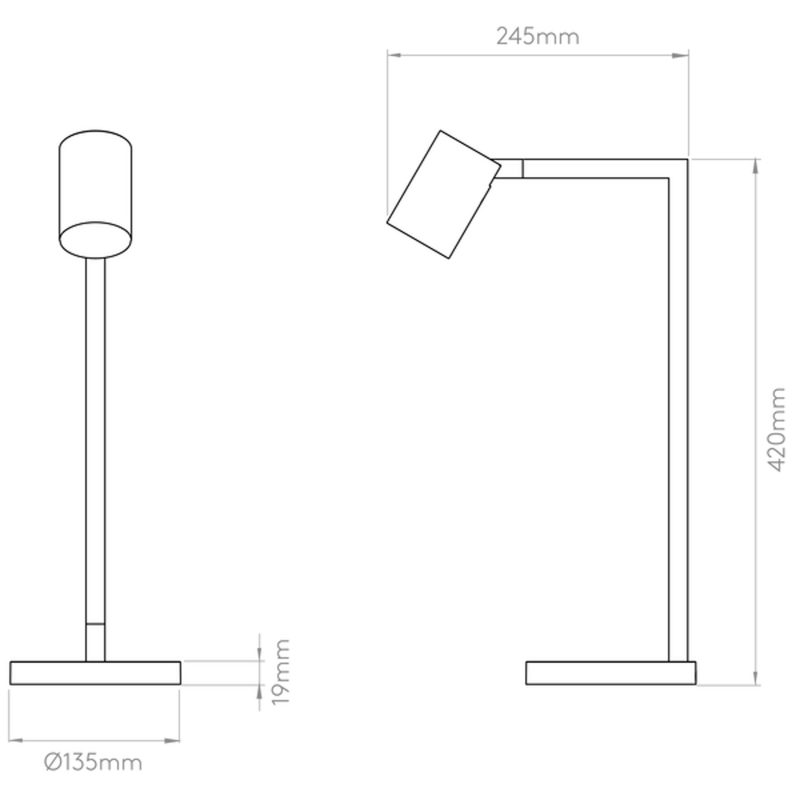 Astro Ascoli Table Lamp Line Drawing