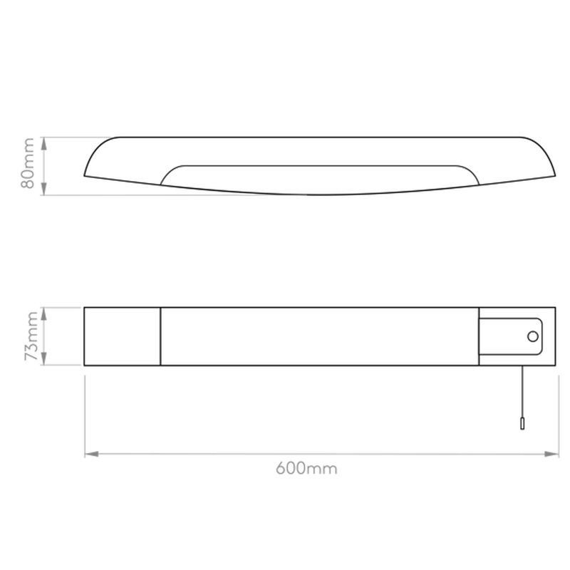 Astro Ixtra Shaver Wall Light Line Drawing