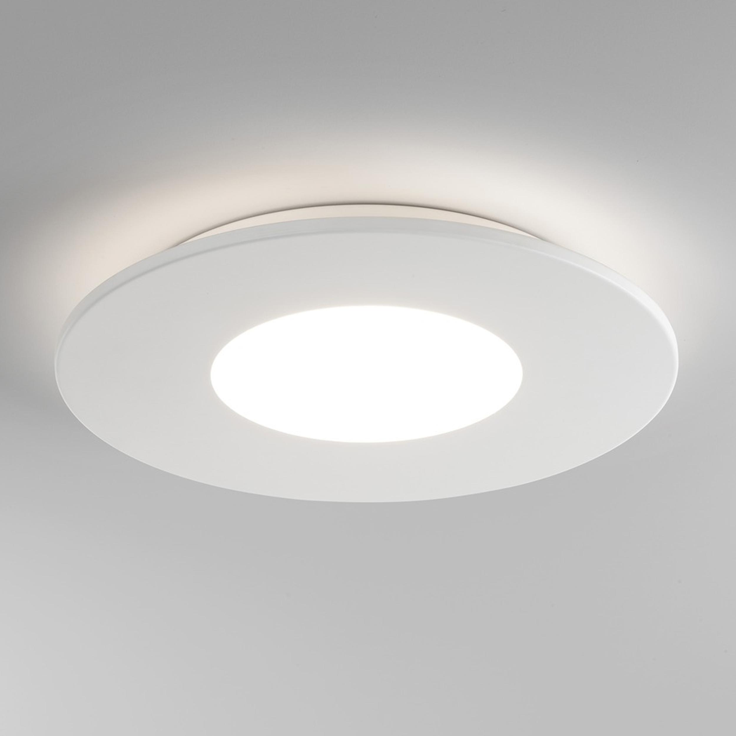 Astro zero round led ceiling light matt white