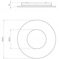 Astro Zero Round Led Ceiling Light Line Drawing
