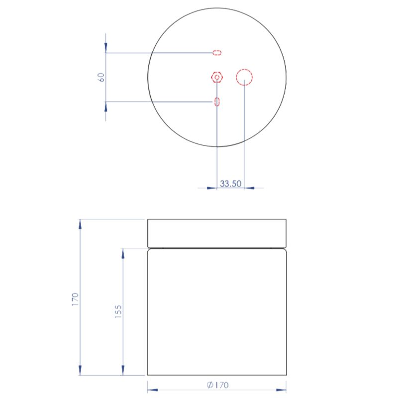 Astro Sabina Ceiling Light Line Drawing