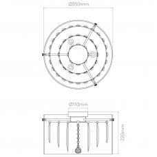 Astro Asini Ceiling Light Line Drawing