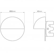 Astro Tivoli Led Wall Light Line Drawing