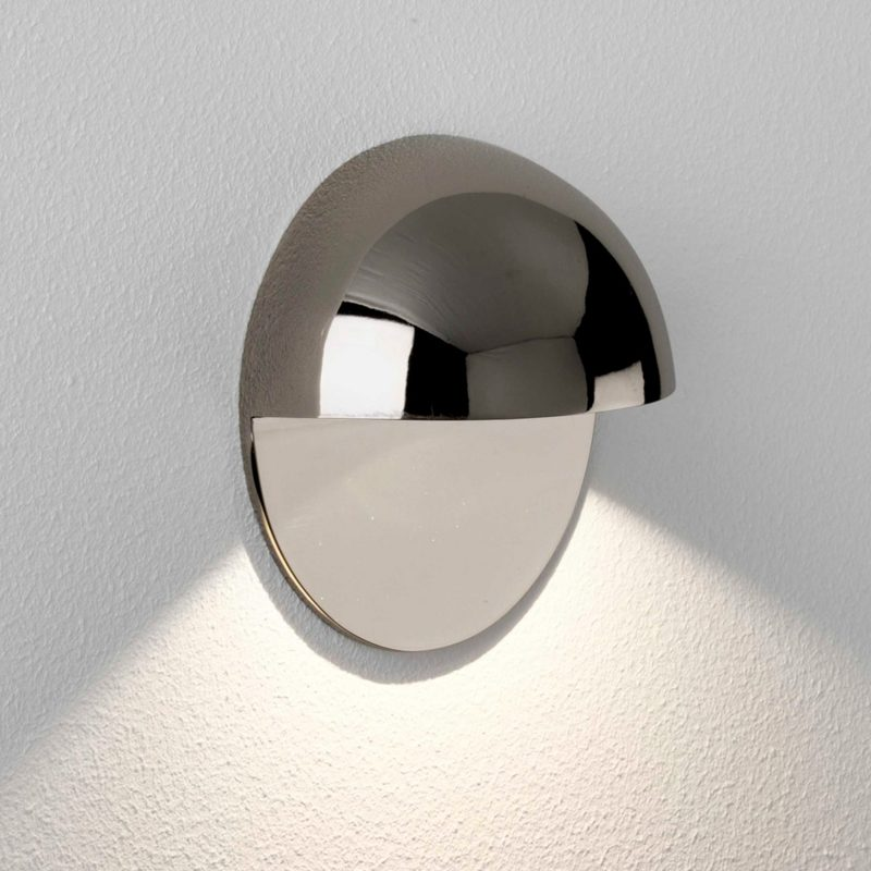 Astro Tivoli Coastal Led Wall Light Polished Nickel C