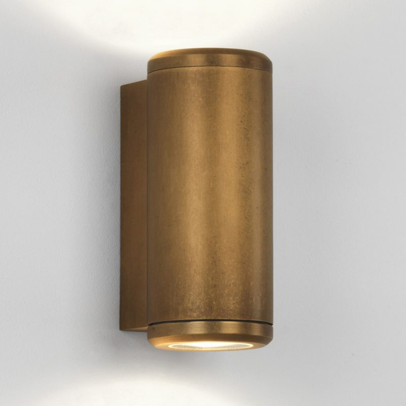 Astro Jura Twin Wall Light Antique Brass