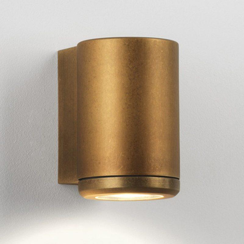 Astro Jura Single Wall Light Antique Brass