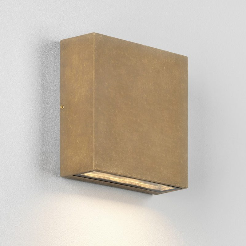 Astro Elis Coastal Single Led Wall Light Antique Brass