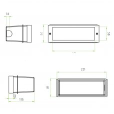 Astro Brick Led Wall Light Line Drawing