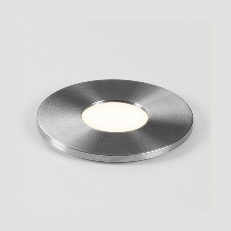 Astro Terra 28 Round Led In Ground Light Brushed Stainless Steel B