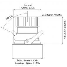 Orluna One Adjustable Downlight Line Drawing