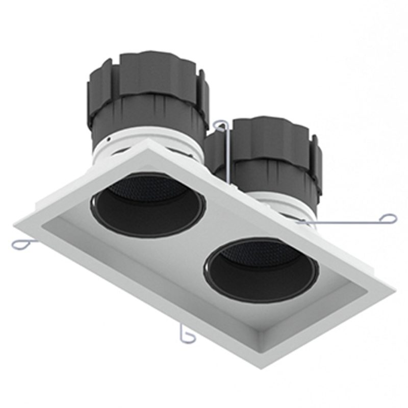 Orluna Look Twin Tilt Rotate Downlight White