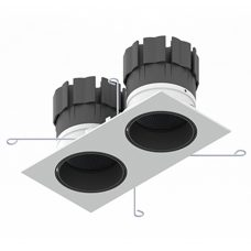 Orluna Detail Mini Square Twin Tilt Rotate Downlight White