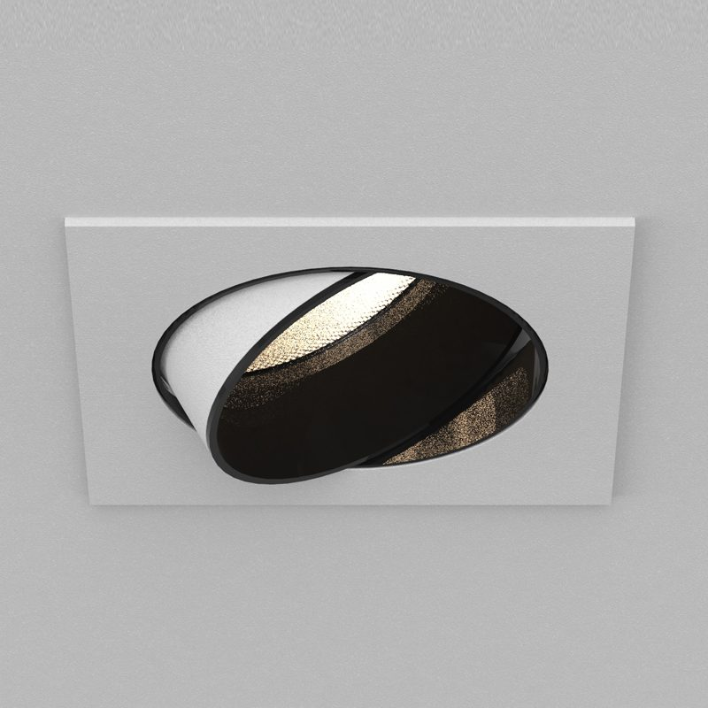 Orluna Detail Mini Square Tilt Rotate Downlight White B