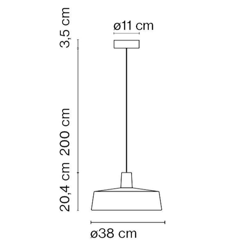 Marset Soho 38 Pendant Light Line Drawing