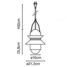 Marset Santorini Outdoor Pendant Light Line Drawing