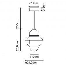 Marset Santorini Pendant Light Line Drawing