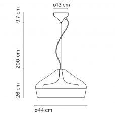 Marset Pleat Box 47 Pendant Light Line Drawing
