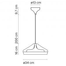 Marset Pleat Box 36 Pendant Light Line Drawing